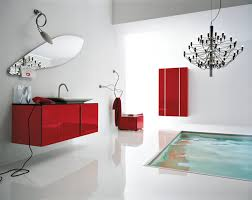 Red Bathroom Decor Glorious White Red Bathroom Decorating Design With Bronze