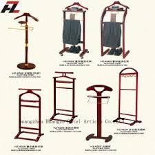 Valet Coat Rack Mobile Men Valet Stands with Four CastersClothes Valet Stand for 18