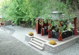 ... Covered Patio Asian Landscaping Land Works Landscaping Ltd. Kelowna,  British Columbia