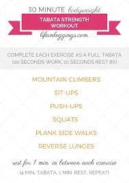 30 minute bodyweight tabata strength workout