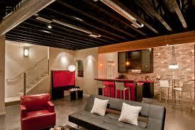 modern home theater by dc fine homes inc basement lighting ideas