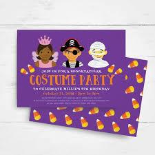 Halloween Birthday Invitation Template Kids Birthday Party