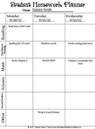 homework planner template pdf daily homework planner pdf file printable homework planner