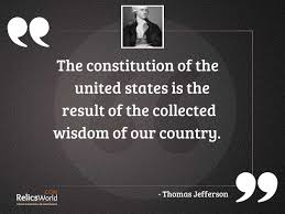 The constitution of the United... | Inspirational Quote by Thomas Jefferson