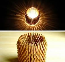diy home lighting. Lamp Made With Clothes Pegs | Quick And Easy DIY Home Projects You Can Do This Diy Lighting
