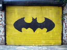 garage door artBatman Garage Door Sweetest Door on South St  Geekadelphia