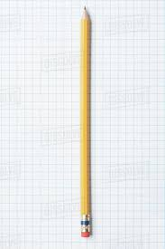 Single Yellow Sharpened Pencil On Graph Paper D1028_38_797