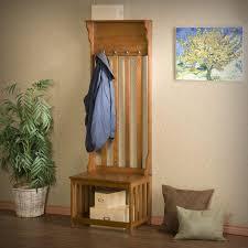 Coaster Coat Rack Oak Entry Bench Hall Tree Wood Coat Rack Shoe Storage Hats Stand 68