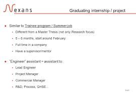 Side 1 Internships In Nexans. Side 2 Content Example: French Studies ...