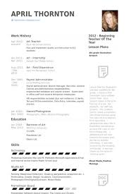Art Teacher Resume Samples Visualcv Resume Samples Database