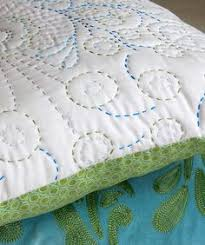 how to hand quilt with perle cotton | Hand quilting | Pinterest ... & Free form hand quilting with different colours - starting with a pillow  case is a great Adamdwight.com