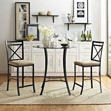 tasteful dining room furniture pedestal counter slab 3 piece table set round rustic natural for 12