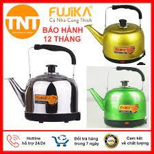 Ấm Điện Đun Nước Siêu Tốc Fujika - thân ấm inox phun sơn tĩnh điện chịu  nhiệt, BH 12 tháng