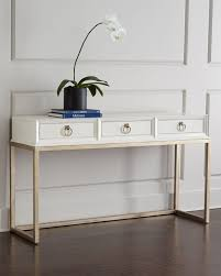 white entrance table. Modern White Console Table. Daisy (Horchow $1299.00) Copy Cat Chic At Z Entrance Table C