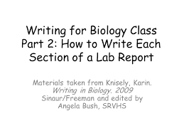How to write a lab report biology high school   tarnowski division   students resume