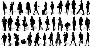 Vectors Silhouettes Set Of 37 Vectors Silhouettes Of People In Action Stock Vector