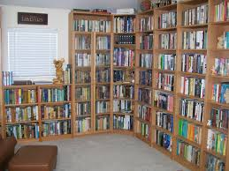 Interior:Amazing And Wonderful Home Library Room With Large Corner Bookcase  Ideas Amazing And Wonderful