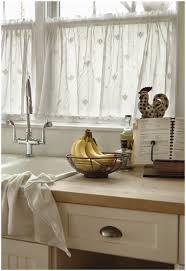 Contemporary Kitchen Curtains Kitchen Cream Brown Mini Curtain Window Kitchen Window Curtains