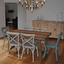 industrial kitchen table furniture. 1.5m Industrial Dining Table W/ 6 Cross Back Chairs Kitchen Furniture A