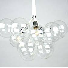 bubble glass pendant light bubble light fixture modern black white creative glass bubble pendant lamp light