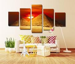 canvas painting room set 5 panels set standard size wall art pictures the egyptian pyramids on standard wall art sizes with canvas painting room set 5 panels set standard size wall art