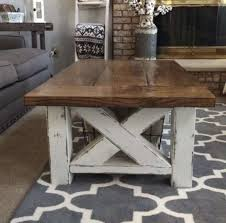 chunky farmhouse coffee table diy projects with best and newest chunky coffee tables gallery