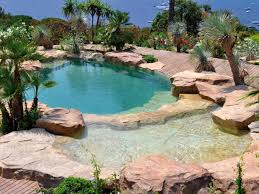 Transformation of a classical swimming pool into a natural swimming type of  pool