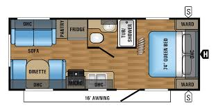 2017 jay flight 21qb floorplan