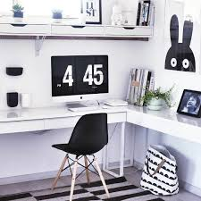 ikea besta office. Black \u0026 White Home Office With Ikea \u0027Besta Burs\u0027 Desk Ikea Besta O
