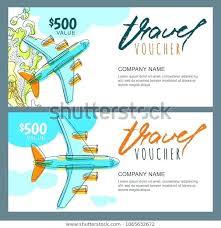 travel voucher template free travel agency voucher template