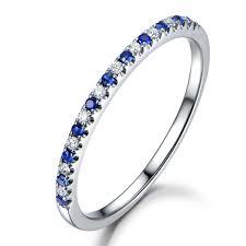 Myray Rose Gold Wedding Band Sapphire Rings Diamond Wedding Band