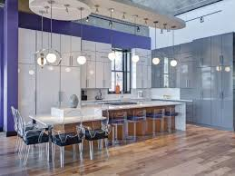 This oversized kitchen island provides plenty of seating at the ...