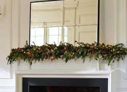 fireplace mantel lighting. Mantel Decor With String Lights And Leaves Mirror Fireplace Lighting