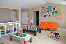 Decorations:Modern Kids Playroom Decor With Colorful Theme Ideas Modern  Style Light Brown Playroom Wall