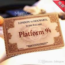 hogwarts school of witchcraft and wizardry harry potter train  hogwarts school of witchcraft and wizardry harry potter train tickets gift for children nine and three quarters for tickets personalized christmas cards