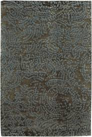 details about 9x13 surya hand knotted wool brown swirls 7413 area rug approx 9 x 13