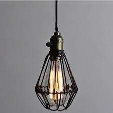 vintage pendant lighting fixtures. Vintage Pendant Light Chandelier Wire Cage Hanging Lampshade Retro Cafe Bar Shape E27 Base Lighting Fixtures I