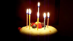 candle light with cake hd stock clip