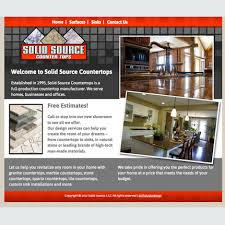 solid source countertops new web site presence for a countertop and sink renovation specialty contractor