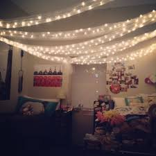 How To Hang Christmas Lights Up In Your Room Christmas Lights In A Dorm Room For Decoration My Roommate
