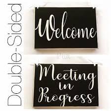 Quiet Please Meeting In Progress Sign Meeting In Progress Signs For Doors Meeting In Progress Door Hanger