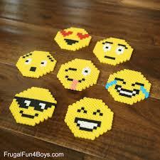 Emoji Perler Bead Patterns Custom Emoji Perler Bead Keychains Frugal Fun For Boys And Girls