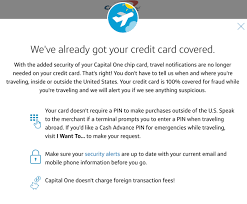 travel notice for your credit cards