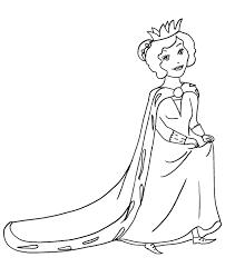 Coloring queen, brisbane, queensland, australia. Queen Simple Coloring Page For Preescholers