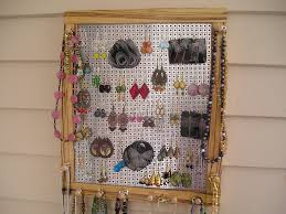 Hanging Necklace Organizer 40 Earring Organizer Stack Em Jewelry Organizer For Earrings