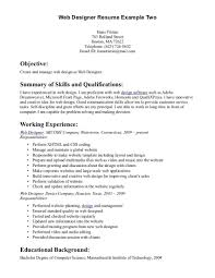 template resume web design resume examples template archaiccomely web designweb design resume examples full size web design resume example