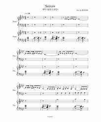 Seesaw By Bts Bad Apple Sheet Music Bass Clef