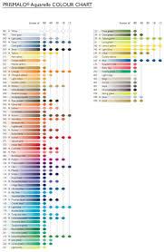 Colour Chart For Caran Dache Prismalo Pencils