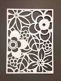 cut out flower metal wall art
