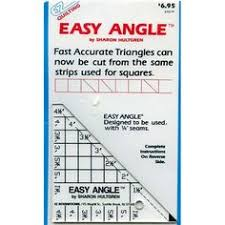 Quilters Rule Mini Square Vintage 1987 Hard Plastic Template Betty ... & Quilters Template Easy Angle Triangles Hard Plastic Vintage EZ Quilting Adamdwight.com